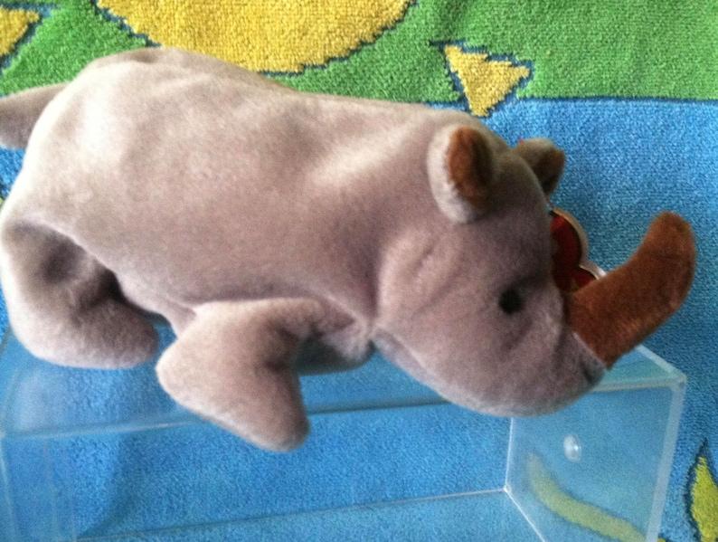 7c9511b7add Ty beanie baby retired Spike the rhino style 4060 with