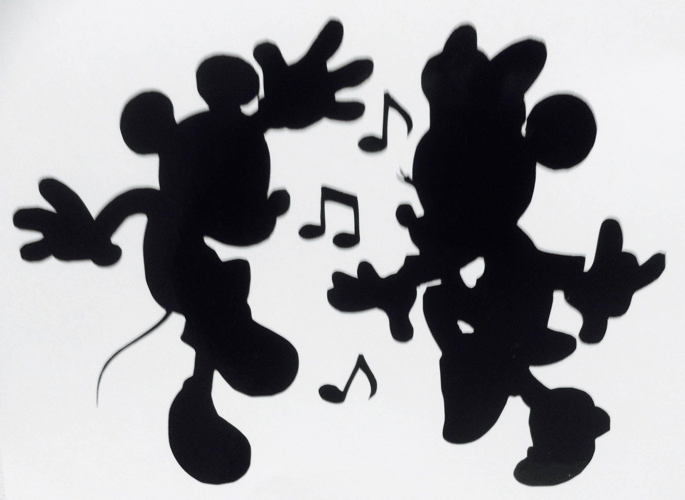 Mickey mouse et minnie danse sticker 5 x 7 etsy - Danse de mickey ...