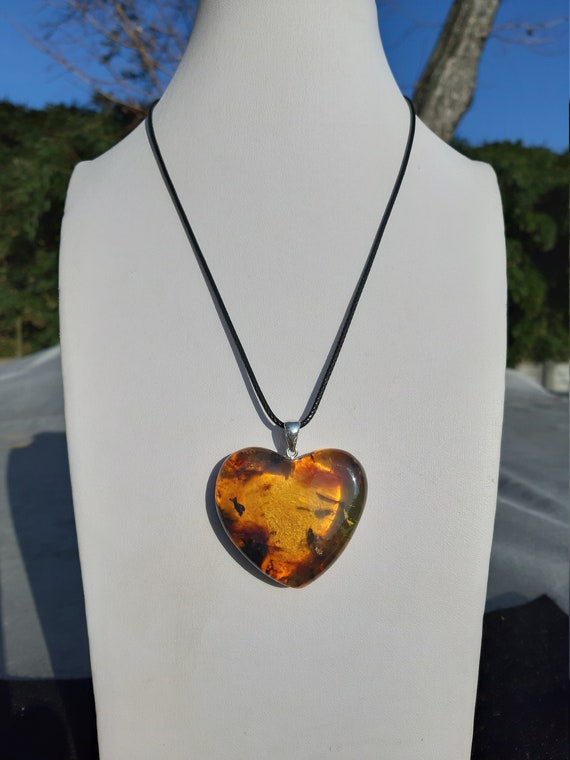 Mexican Amber Ambar Mexico Cuore Heart