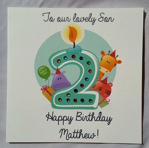 Personalised Handmade Childrens 2nd 3rd Birthday Card Boy Etsy