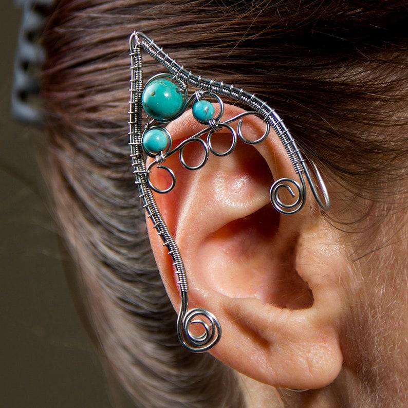 Elf Eears Cuff Silver Ear Cuff Elven Ear Cuff Elf Ear Cuff Elf Ear Cuffs Fairy Ears Elven Jewelry Elven Ears Wire Elf Ears Elf Accessories