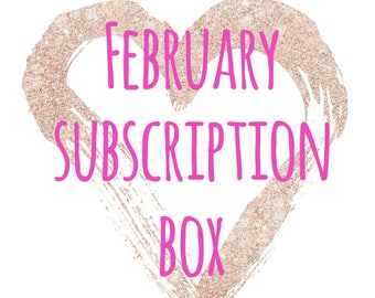 February Subscription Box ~ Monthly Subscription Box ~ Monthly Crystals