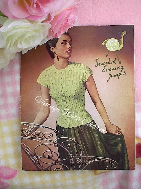 Tejer patrón 1940s Vintage Fair Isle Jumper de señora y chaqueta a juego.