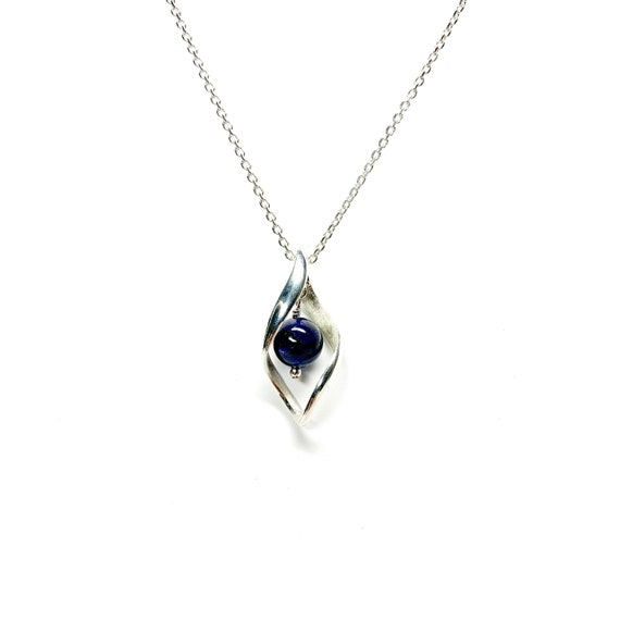 Tanzanite Gemstone Sterling Silver 8mm necklace December Birthstone Gift Jewelry Gold K18 Charis JEWELR made in Japan Pendant Blue SV925