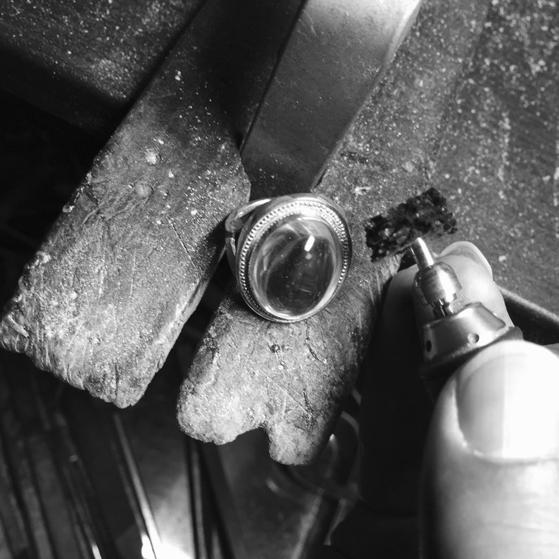 black spinel Sterling Silver ring Black ringsize 4 5 6 7 8 9 10 11 Round Cut 4mm Gemstone ring black spinel ring made in Japan X ring
