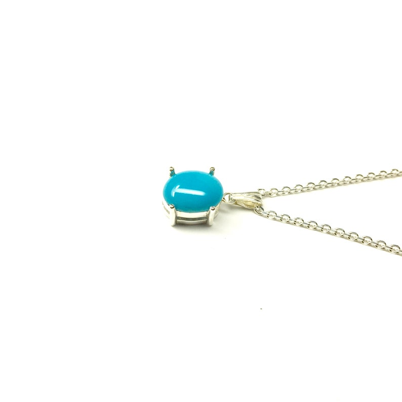 Sterling silver Turquoise Silver Necklace December Birthstone Necklace sv925 Turquoise Necklace made in Japan Blue Color Gift Jewelry
