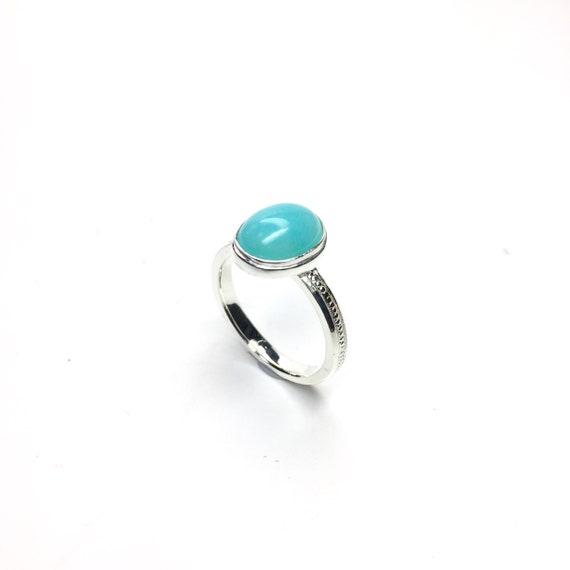 amazonite ring dainty silver ring