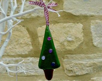 Christmas tree - Fused glass Christmas decoration - Christmas ornament - Fused glass christmas tree - tree decoration
