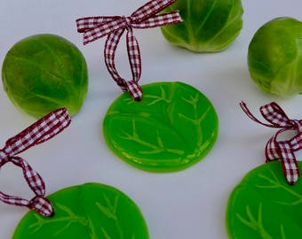 Sprout - Fused glass Christmas decoration - Christmas ornament - Sprout tree decoration - Fused glass christmas tree - tree decoration