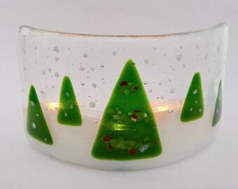 Christmas decoration - Fused glass christmas ornament - fused glass christmas decoration -  Christmas trees - Christmas decor -