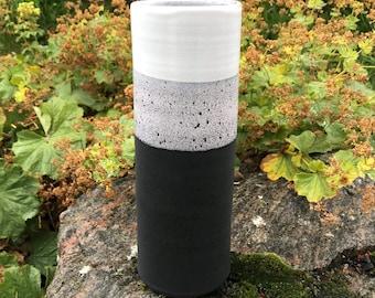 Ceramic Vase / Handmade Pottery / Black & White