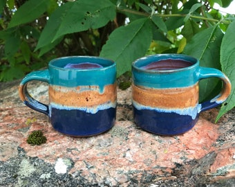 Ceramic macchiato Cup / Handmade Pottery / 210ml