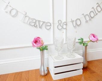 Wedding Banner  - Bridal Shower Banner - Bridal Shower Decor - Wedding Decoration - Wedding Garland