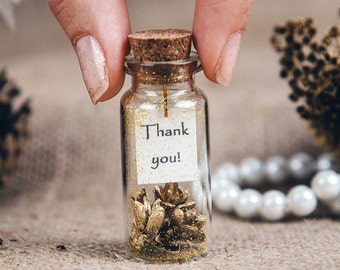 gold wedding favors thank you bottle gold favors winter wedding favor personalized bottle favor guest gift rustic wedding favor wedding gift