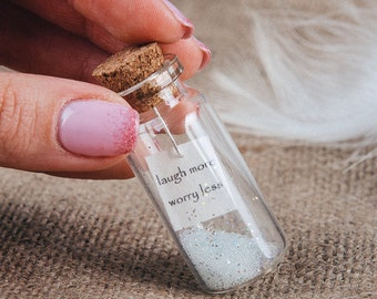 Message in a bottle Unusual gift for friend Personalized friendship gift Funny gift Ideas for woman Sister gift
