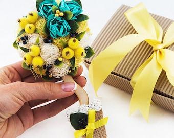 Fridge Magnet Gift For Her Refrigerator Bridesmaid Flower Women Bridal Shower Magnets Yellow