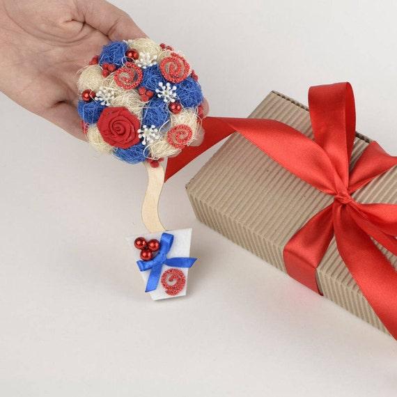 Aimants, magnet pour frigo, cadeau femme, cadeau de pendaison de crémaillère, décoration pour la cuisine cadeau pour aimant de cadeau femme cuisine décoration rouge-blanc-bleu