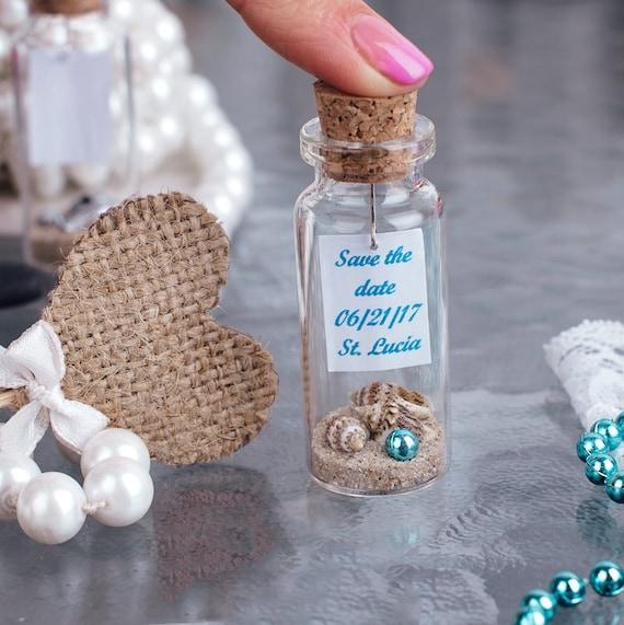 wedding favor ideas beach in a bottle mini glass bottle favors | Etsy