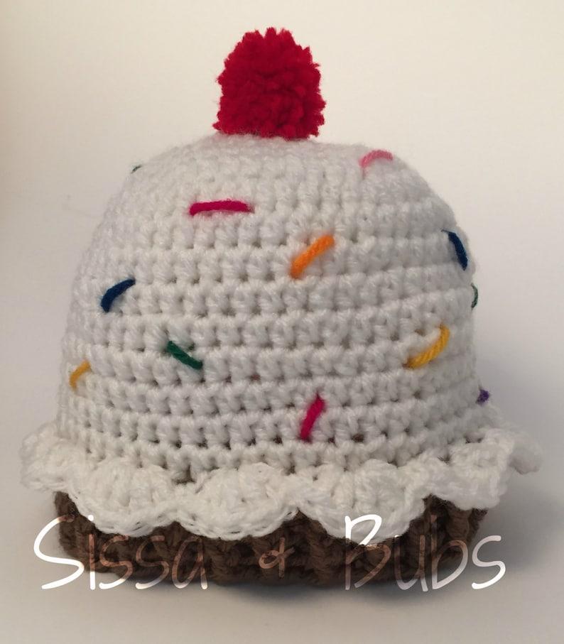 f2a330e3b44 The Cupcake Beanie handmade crochet cupcake cherry on top