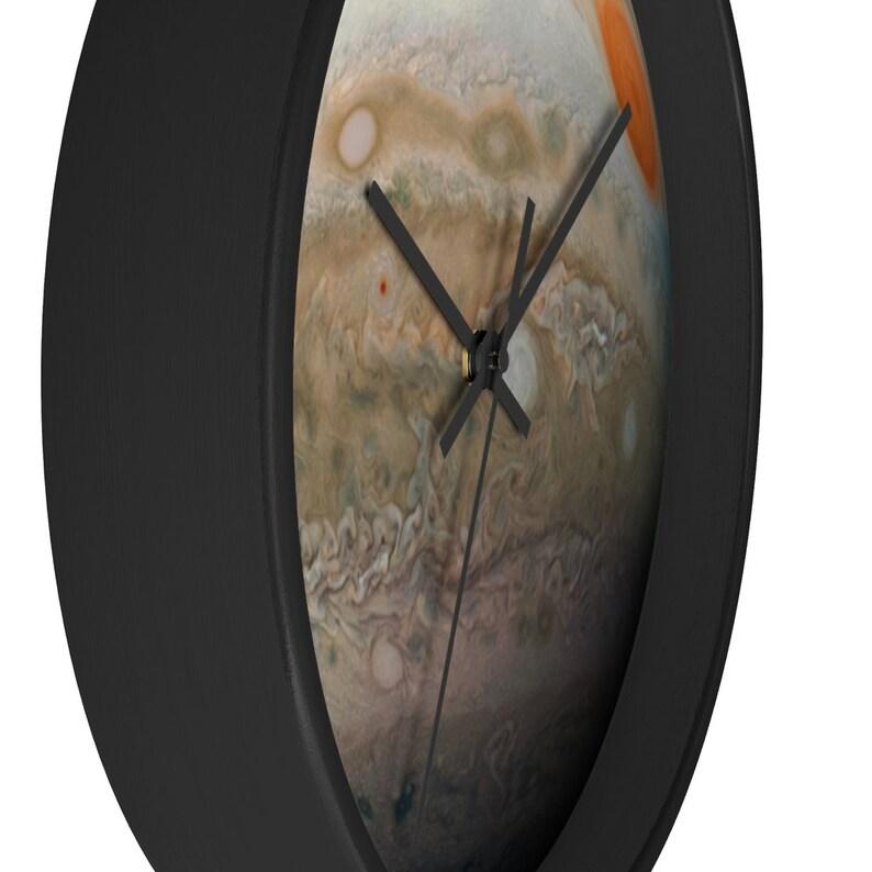 Planetary Decor Jupiter Artwork Big Wall Clock Planet Wall Decor Large Wall Clock Jupiter Wall Decor Planet Jupiter Clock