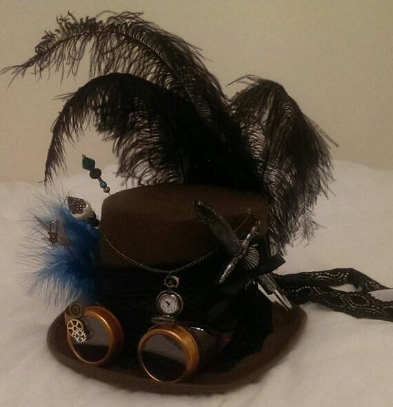 Steampunk Festival Saloon Western ragazza vittoriano cappello  4f4d66b741e2