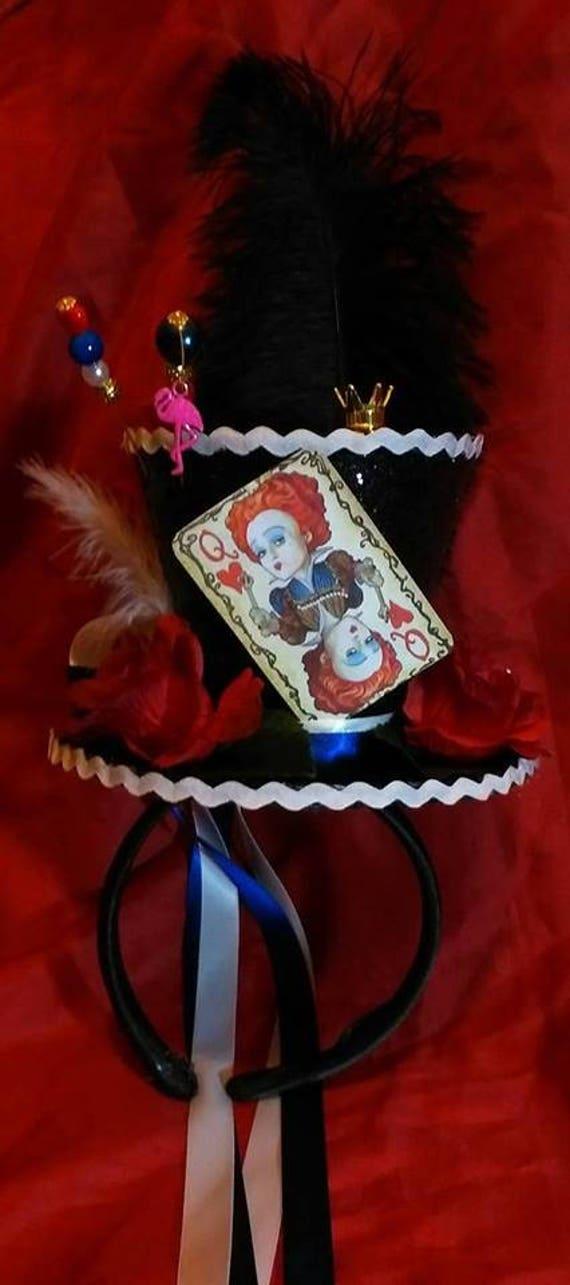 8197adacd8eee Queen Of Hearts Alice in Wonderland Mini Top Hat Alice Through