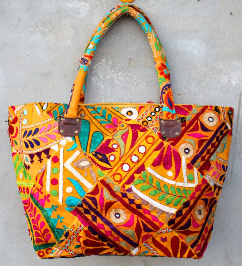 e2ffa0a40c Indian Cotton Rajkoti Embroidered women Handbag Hobo Bag