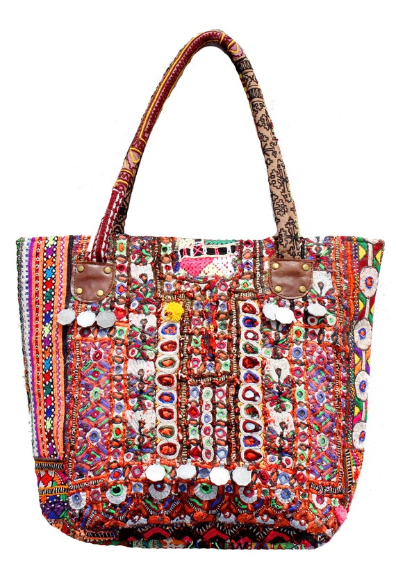 ab344c353f Indian Cotton Handmade Vintage Banjara Tribal Bag Gypsy