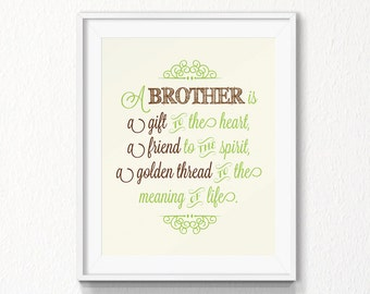 Brother Quote, INSTANT download, Nursery, brother wall art, Printable Art, Digital file, nursery wall art, print brother quote, nursery art