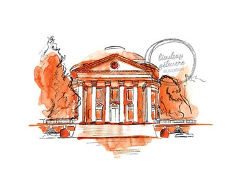 University of Virginia Rotunda print