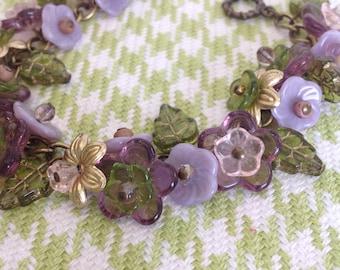 Lavender lily bracelet