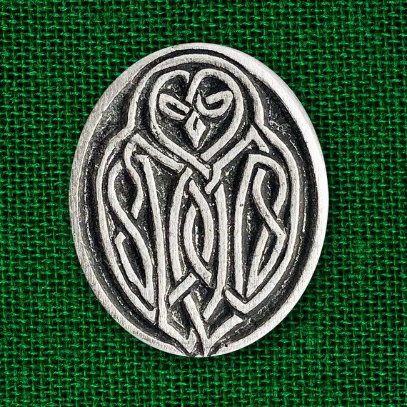 Celtic Owl Pewter Pin Owl Wisdom Celtic Knot Pin Celtic Etsy
