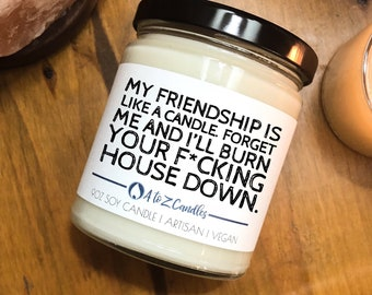 Best Friend Gift For Gifts Funny Candle My Friendship Is Like A Candles Coworker Birthday