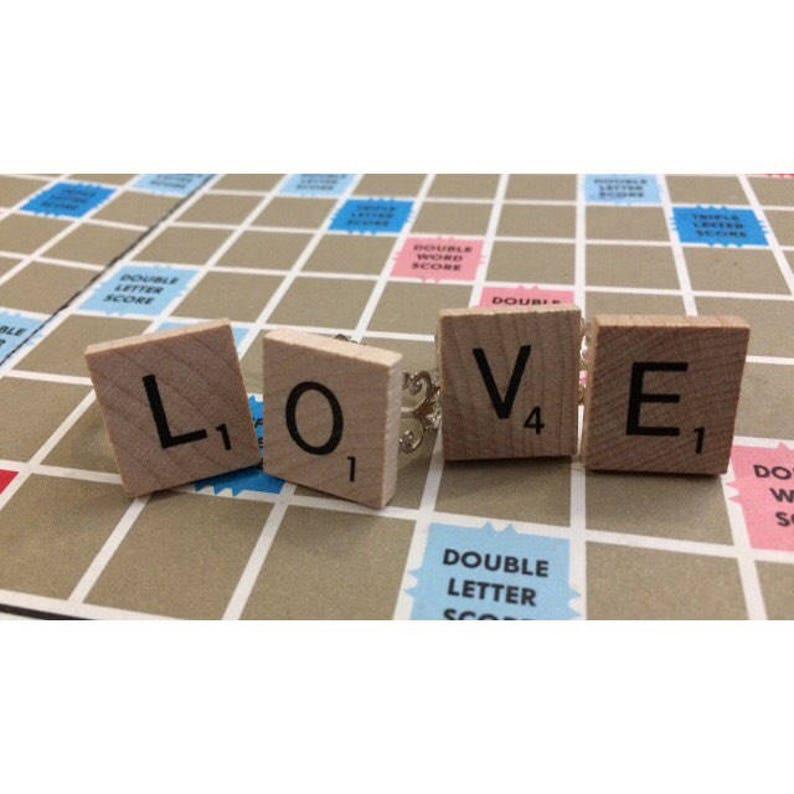 Pick Your Letter Wood Tile Filigree Adjustable Ring