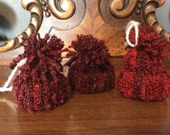 Winter hat ornament, winter hat, red hat
