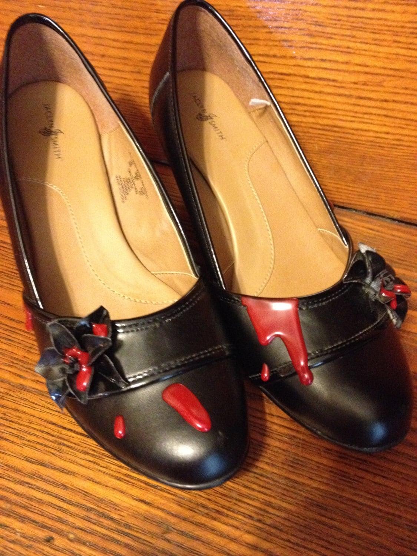 ca985987241 Zombie Shoes Horror Bloody Heels zombie costume walking