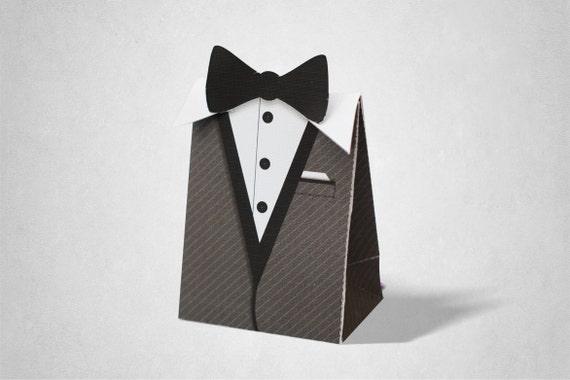 black tie theme party gift favor box goodie bag loot bag etsy