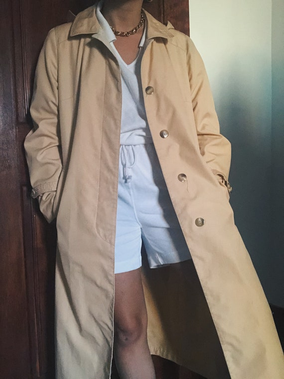 Pale Sorbet Trench Coat/ Rain Coat with Top Stitch