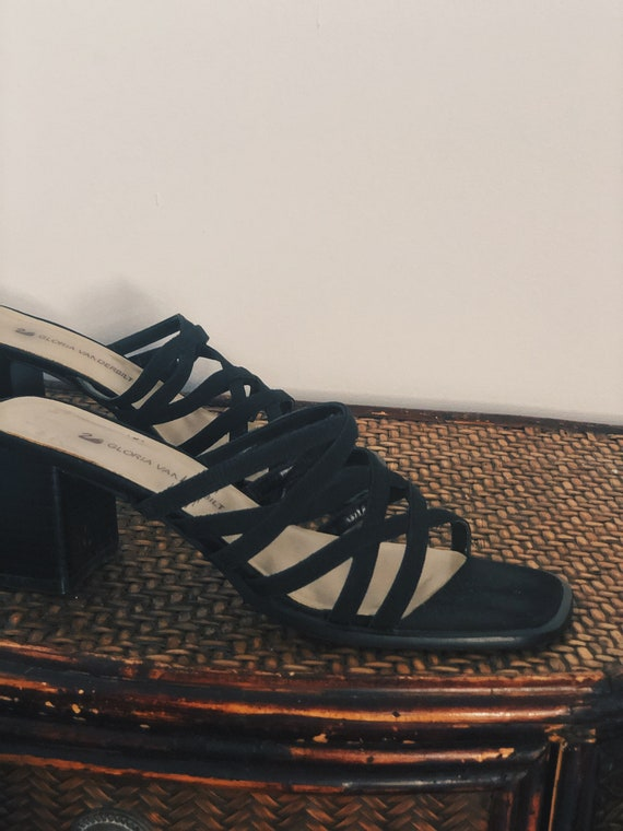 """Black Strappy Noir Mules with 2.5"""" Block Heel - image 2"""