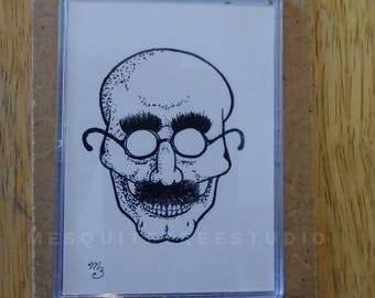 A Skull in Disguise! (ACEO)(Pen and Ink)(Hand-Drawn Original)