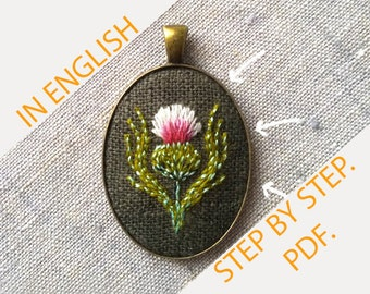 How to put embroidery in the setting perfect tutorial. cross stitching pendant brooch earrings instruction manual, embroidery DIY IN ENGLISH