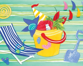 """At The Beach Placemat (12""""x18"""")"""