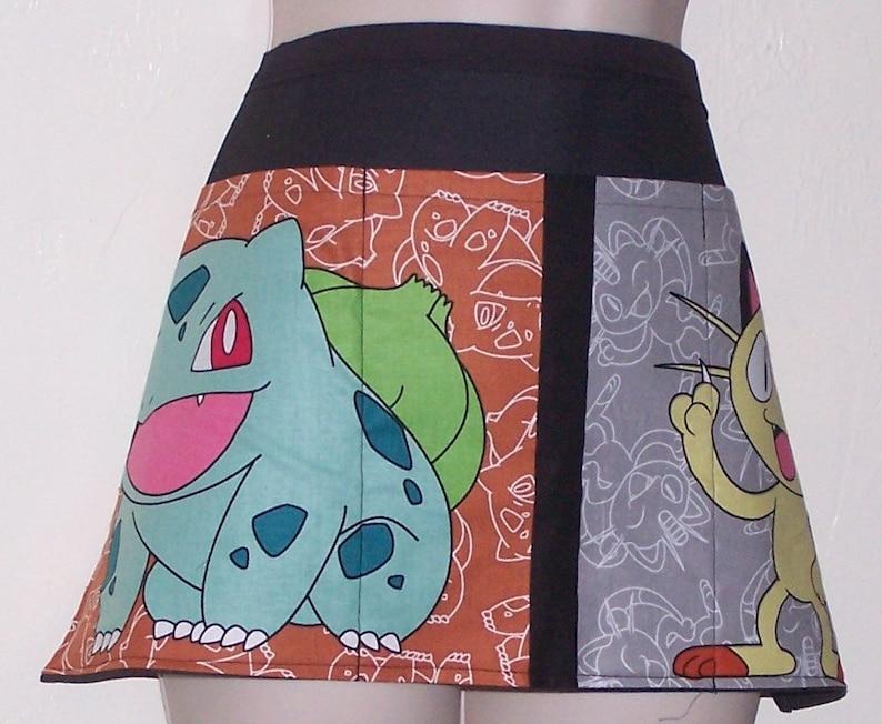 Handmade server waitress half apron Pokemon  with three pockets 6654