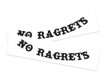 No Ragrets Temporary Tattoo (2-Pack)