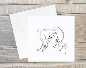 Saluki Sighthound Card - Greyhound Greeting Card - Square Card - Dog Lover Card - Sighthound Card - Saluki gift - Saluki Card - Saluki