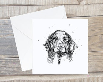 Flatcoat Retriever Card - Flatcoat Greeting Card - Dog Lover Card - Flatcoat gift - Flatcoat Present - Flatcoat Art - Black Labrador Card