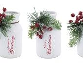 Christmas Vase, Christmas Bottle, Flower Vase Container