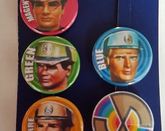 Mysterons 25mm  Button Badge Gerry Anderson Captain Scarlet