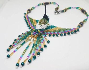 Grounding and Comfort Healing Hummingbird Necklace