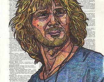 Bodhi (Patrick Swayze) portrait on a Dictionary Page